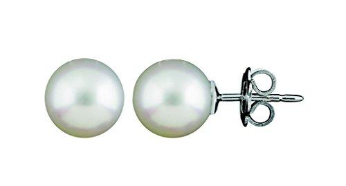 Orecchini SALVINI con perla giapponese Akoya e Oro Bianco.
