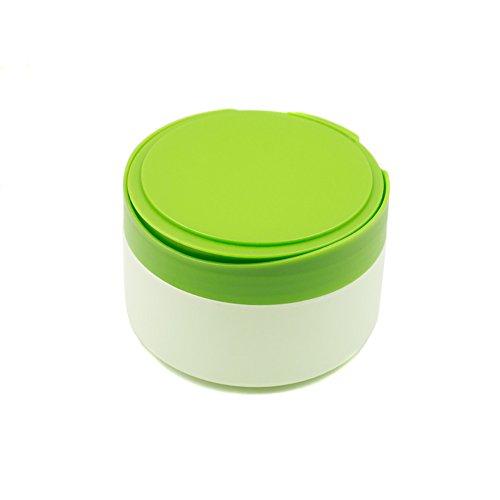 1 PC portable Plastique bébé Soins de la peau bébé Houppette Conteneur de support pour pot de poudre de talc Coque Pot Pot de fleurs avec Houppette et Tamis Plateau (Vert)
