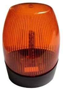 LAMPE GYROPHARE STROBO FLASH CLIGNOTANT ORANGE LED 12V 24V 230V PORTAIL GARAGE