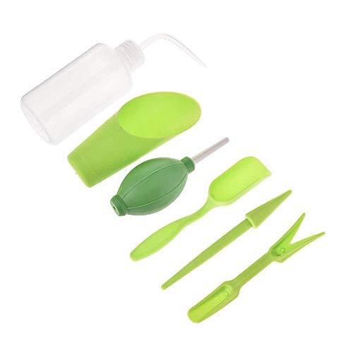 LEISURE TIME Outils de Plantes, 6 Pcs Mini Outils de repiquage de Jardin Set Outils à Main de Jardin Set Plantes succulentes Bonsaï Plantes d'intérieur Tool Set (Green)
