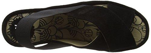 FLY London Brez 637, Sandales Femme Noir (Oil Black)