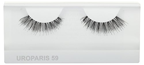 UROPARIS False Eyelashes for Women, 59, Black