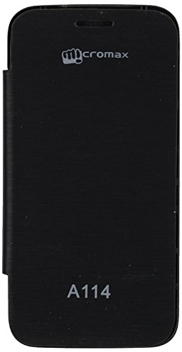 iCandy™ Synthetic Leather Flip Cover For Micromax Canvas 2.2 A114 - BLACK  available at amazon for Rs.170