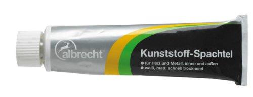 Albrecht Kunststoff-Spachtel, Reparatur-Spachtel, für Holz und Metall 125g