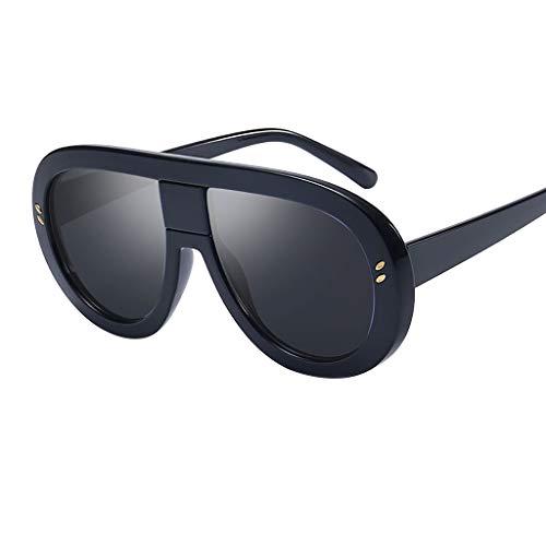 Sonnenbrille Damen,WQIANGHZI Neuheit Sunglasses Lässige Rave Partybrillen Mode Matte Pilotenbrille...