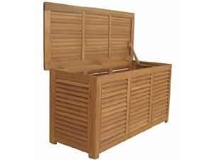 auflagenbox kissenbox sitztruhe massives eukalyptusholz. Black Bedroom Furniture Sets. Home Design Ideas