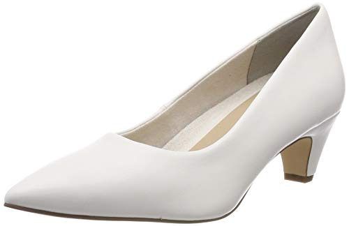 Tamaris Damen 1-1-22428-22 108 Pumps, Weiß (White Matt 108), 39 EU - Leder Pumps
