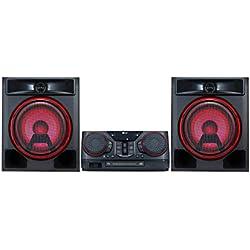 LG ck56-équipement de Son de Haute Puissance (700W, Bluetooth, USB Dual, karaoké, éclairage LED, CD, entrée de Micro, FM) Noir
