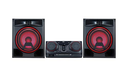 LG CK56   Equipo de Sonido de Alta Potencia (700 W, Bluetooth, USB Dual, Karaoke, Iluminación LED, CD, Entrada de Micro, FM) Color Negro