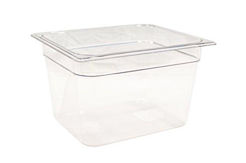 Rubbermaid Commercial Products FG126P00CLR Bac d'aliments 1/2 200 mm, 10,8 L Gastronome GN, Transparent