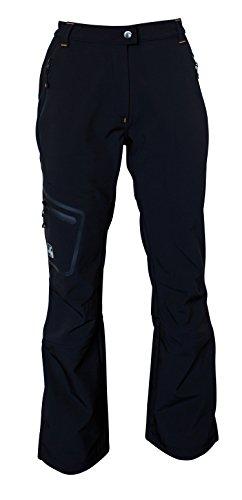 Deproc Active Damen Softshellhose mit Schneefang STERLING Lady Hose, schwarz, 36 (Schwarze Snowboard-hosen-frauen)