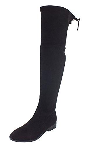 SPM Damen an Overknee Reitstiefel Schwarz (Black)