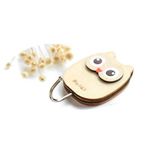 en, Aus Holz Schön Muster Creative Selbstklebende Multi Utility Key Mop Tasse Hut Handtuch Kleiderbügel Wandhaken Für Home Küchen Badezimmer Schlafzimmer Schränke Garten owl ()