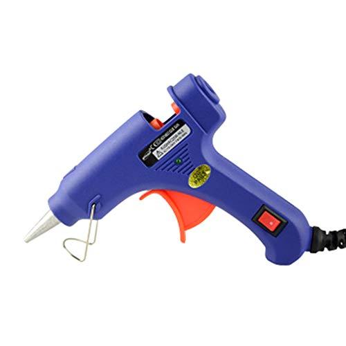 Folewr-8 Pistolet à Colle Chaude Loisir Créatif 15-20W 7.0-7.5mm avec des Fusibles de Sécurité Intégrés pour Les Projets de Bricolage avec La Maison, Carte de Circuit Imprimé, etc. (Bleu)