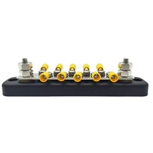 Nrpfell 7 pieces 10A Lignes doubles Barriere de bornier a 12 positions Connecteur de cable de bande
