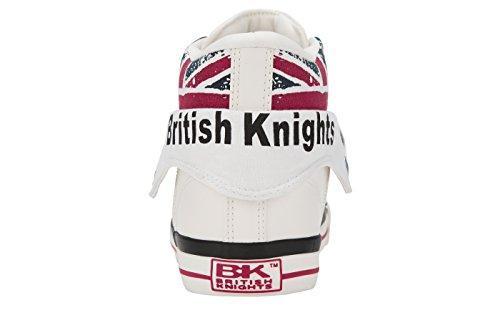 British Knights Roco, Baskets Marche Mixte Bébé BLANC/UNION JACK