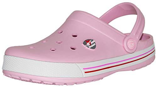 Beppi Pinke Damen Clogs Pantoletten, Pink, Größe 37