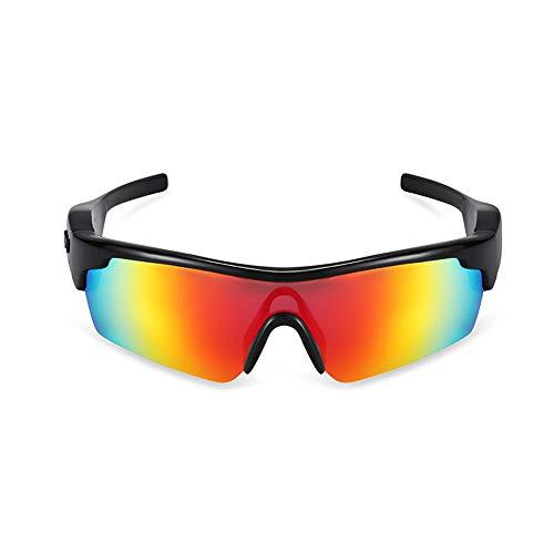 JAY-LONG Bluetooth-Smart-Brillen, Stilvolle Polarisierte Sonnenbrillen, Multifunktions-Sonnenbrillen Von Drive, Verlustfreie KlangqualitäT, Lautsprecher- Und Headset-Dual-Modus,Red