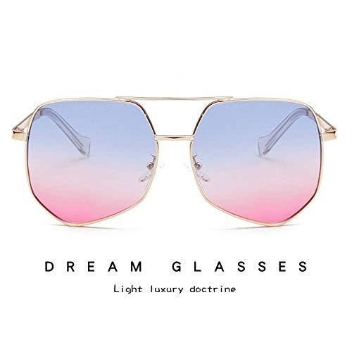 JFFFFWI Ofgcfbvxd-gla Stilvolle Sonnenbrille für Frauen Aviator Polarized Metal 100% UV-Schutz Sonnenbrille Frauen Männer Retro-Marke Sonnenbrille UV-Schutz Sonnenbrille (Farbe: Lila, Größe: Casual