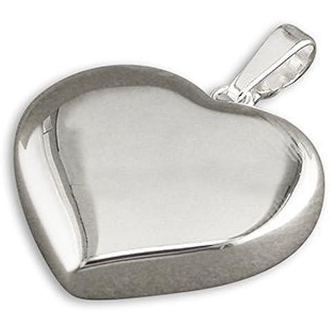 Ciondolo a forma di cuore, in argento Sterling, con o senza Chain. ideale con pendente a forma di cuore, in stile Tiffany