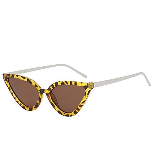 Lcxligang Frauen Herren Vintage Retro Cat Eye Rapper Sonnenbrille Eyewear - Bietet vollen UV400-Schutz - Geeignet für Outdoor-Aktivitäten (Color : B)