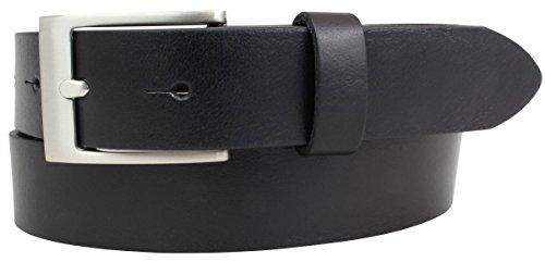 Kinder-Gürtel aus Vollrindleder 3,0 cm | Ledergürtel für Jungen/Mädchen 30mm | Jeans-Gürtel in Schwarz Braun Blau Jeans Anzug Kleid Rock 3cm -