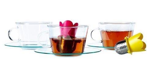 Ikea Vagrat Flower 2 Pack Floating Tea Infuser Brewer Ball Stainless Steel Hot Cold by IKEA