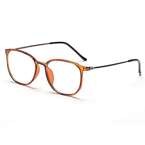 Brille KKY-Enter Mode lichtdurchlässiges blaues licht blockierende schutzbrille für Computer/Telefon besseren Schlaf [Anti-Augen-müdigkeit] Unisex (männer/Frauen) (Farbe : Brown)