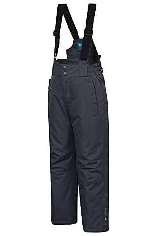 Mountain Warehouse Pantalon de ski Enfant Garçon Fille Salopette Snowboard bretelles Hiver Neige Raptor Gris foncé 9-10 ANS