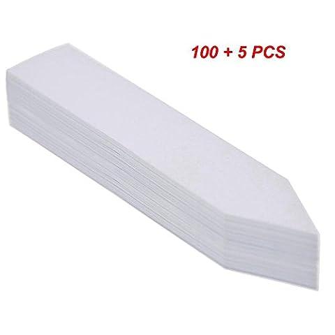 Kepmem Lot de 105 Étiquettes de Plantes En Plastique Blanc Marqueurs d'étiquettes de jardin
