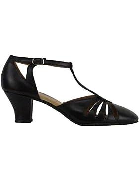 9210 Rumpf Damen Tanzschuhe Balboa Latein Salsa Rumba Tango Ballroom Schuhe Material Leder, Chromledersohle Absatz...