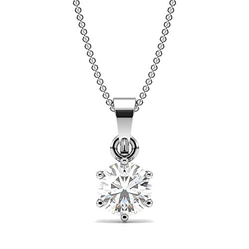 Abelini Damen -  Gold 9 Karat (375)  9 Karat (375) Weißgold Rundschliff   Leicht Getöntes Weiß/Top Crystal (I) Diamant