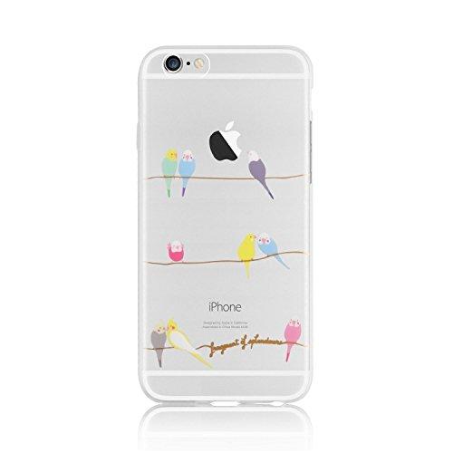 iPhone 6 6S Hülle von licaso® für das Apple iPhone 6 und 6S aus TPU Silikon Wellensittiche Vögel Muster Ultra-dünn schützt Dein iPhone 6 Case Design Schutzhülle Bumper