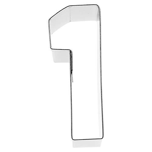 Birkmann 1010713210 Ausstechform Zahl 1, 6 cm, Kunststoff, Grau, 5 x 3 x 2 cm, 5 x 3 x 2 cm