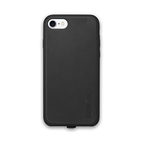 Eggtronic® Leather Wireless Charging Case - Cover Ricarica Wireless in Pelle (iPhone 7 - Black) Black