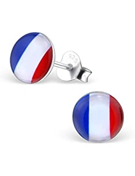 mon-bijou–h26130–Ohrring strahlenden Farben von Frankreich in Silber 925/1000