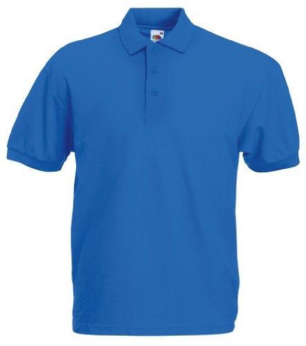Blau L/s Polo (POLOSHIRT FRUIT OF THE LOOM 65/35 S M L XL XXL XL,royalblau XL,Royalblau)