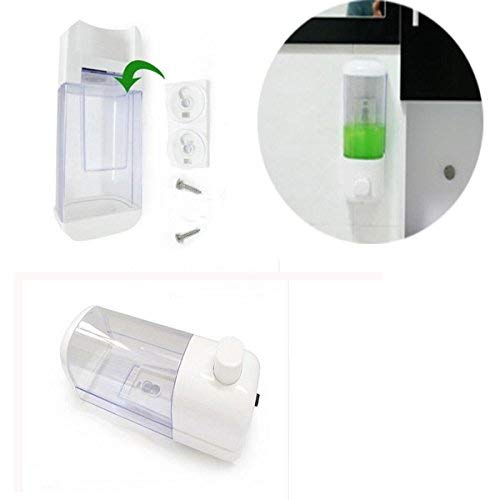 Shop Online 500ml Wall Mounted Soap Dispenser Handwash Liquid Pump Shampoo Dispenser for Kitchen Washroom Bathroom(Color May Vary)