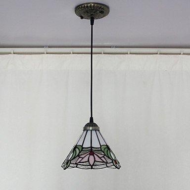 BinLZ Chandelier Moderne Kronleuchter Deckenleuchten Anhänger Max 40W Tiffany Bowl Style Mini Kronleuchter Esszimmer 3C Ce FCC Rohs für Wohnzimmer Schlafzimmer, 220-240 v - Tiffany Mini Anhänger Lampe