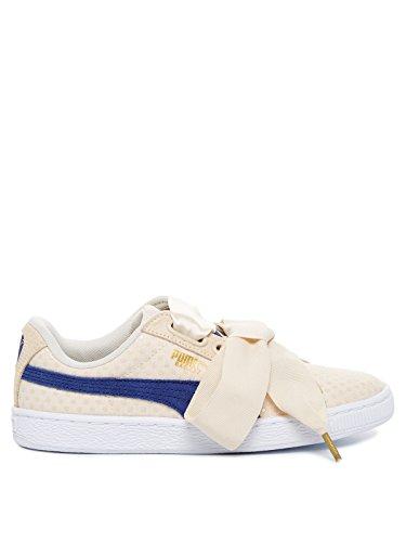 Puma Basket Heart Denim 36337103, Turnschuhe beige / blau
