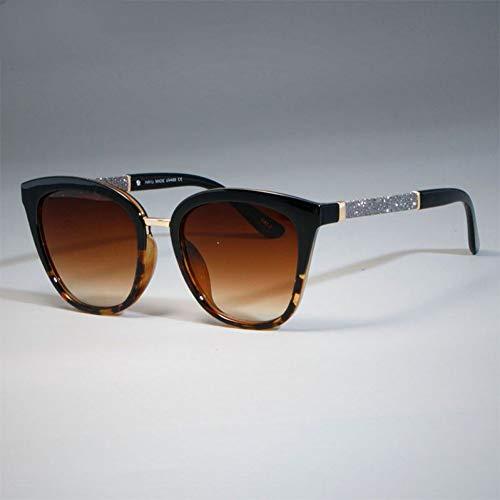 TIANKON Ladies Square Glitter Sonnenbrillen für Frauen Cat Eye Beige Frames Brillen UV-Schutzbrille,C2 Leopardenteed