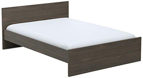 INFINIKIT Haven Bett 140 x 200 cm - graue Eiche Optik -