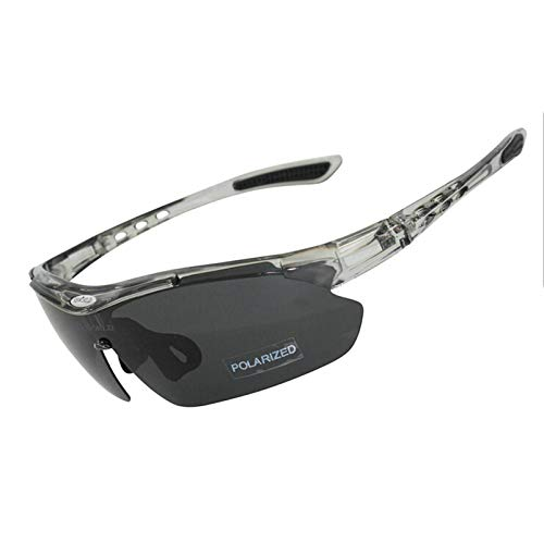 Aeici Sportbrille Polarized Sportbrille Herren Sportbrille Verspiegelte Fahrradbrille Grau
