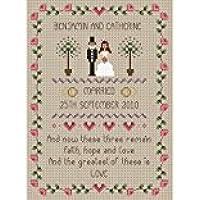 Little Dove Designs - Fede, speranza, amore, kit per punto croce, tema: matrimonio