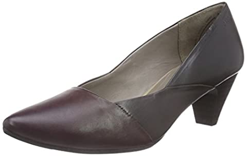 Marc Shoes Marita Damen Pumps Rot (aubergine-combi 691), 40.2/3 EU (7 UK)