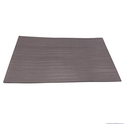 CAVIVI Tischsets Waschbare Tischsets Tischsets PVC-Tischsets rutschfest und Umweltschutz Essmatten, Kaffee -