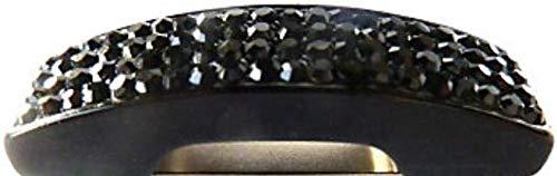 1 Magnet Brillenhalter schwarz mit grauen Glitzersteinen 9 x 13 x 18 cm