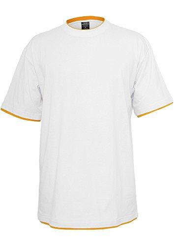 TB029A Contrast Tall Tee T-Shirt wht/ora