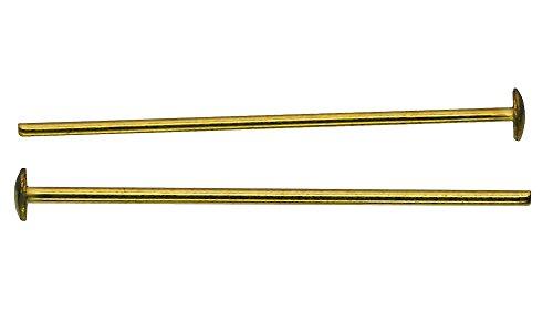 200x Kristall Verbinder Kettelstift Messing 26mm ~ Kronleuchter Lüster