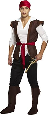 Dames Pirate Costume Hommes CARAÏBES BUCCANEER FEMMES Fancy Dress Party